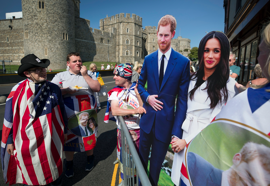 <em>Royal fans are already camping outside Windsor Castle ahead of the big day (Rex)</em>