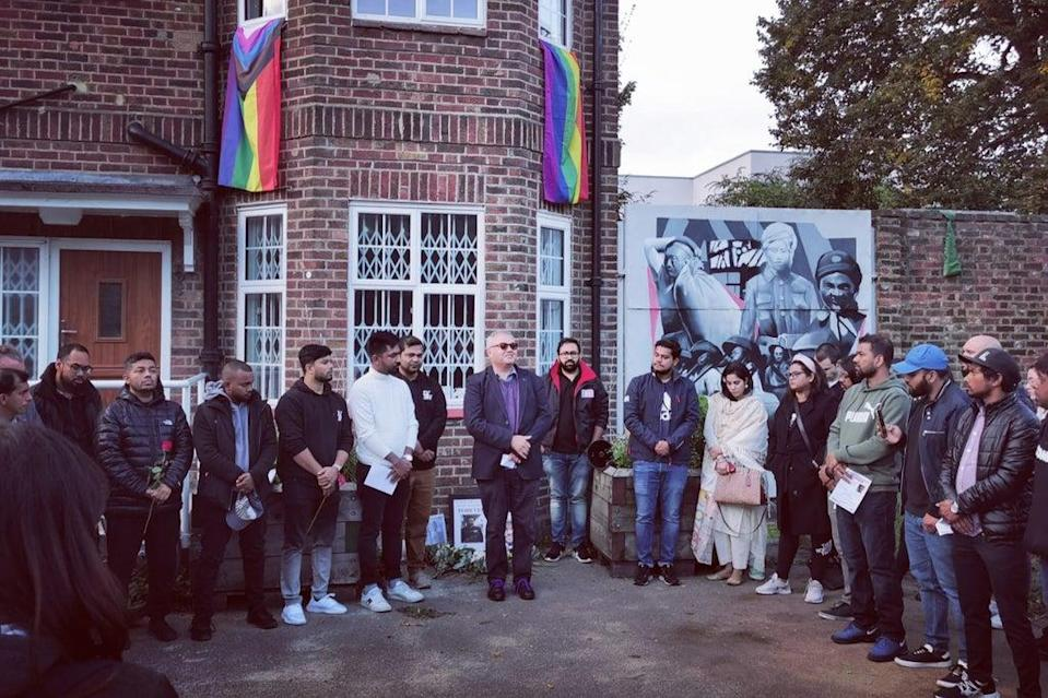 Dozens of people gathered at Tower Hamlets Cemetery Park on Tuesday (Let Voice Be Heard)