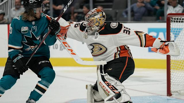 Here's how the Sharks are expected to line up against the Ducks in Anaheim on Friday evening.