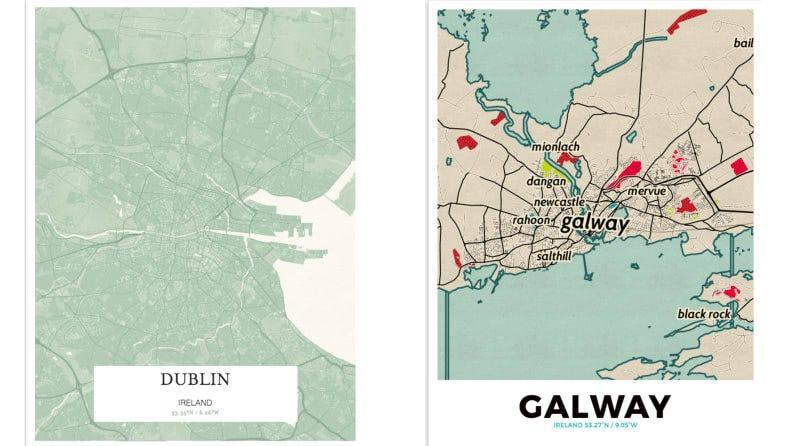 Pinpoint your favorite Irish locale with a Grafomap.