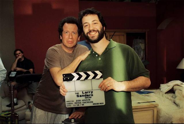 Garry Shandling and Judd Apatow. (Photo: Larry Watson/HBO)