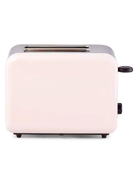 """This just might be the sweetest toaster we've ever seen. It comes in lilac, turquoise, yellow, and blush (pictured). $60, Saks Fifth Avenue. <a href=""""https://www.saksfifthavenue.com/product/kate-spade-new-york-kate-spade-x-lenox-all-in-good-taste-2-slice-toaster-0400012419174.html"""" rel=""""nofollow noopener"""" target=""""_blank"""" data-ylk=""""slk:Get it now!"""" class=""""link rapid-noclick-resp"""">Get it now!</a>"""