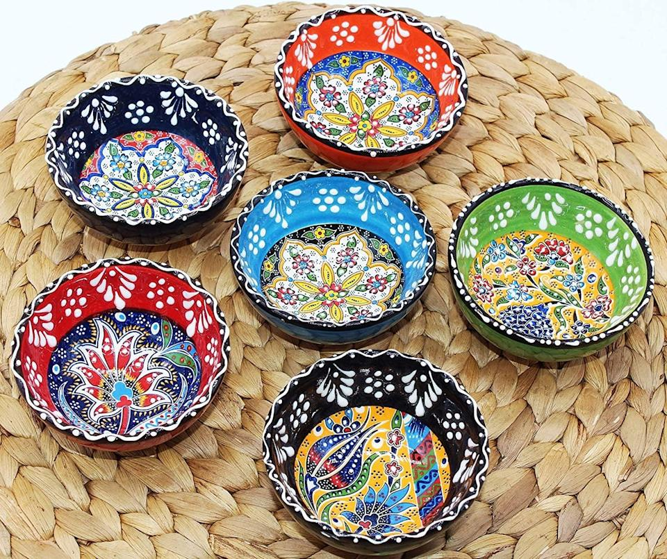 <p>The <span>HeraCraft Decorative Turkish Handcrafted Ceramic Bowl Set of 6 Serving (3.15''- 8cm)</span> ($24) will make a statement in your kitchen!</p>