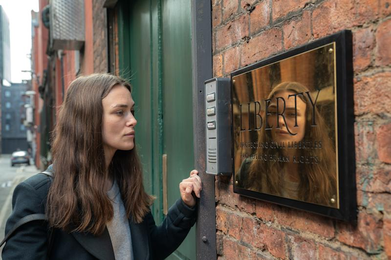 Keira Knightley portrays Iraq War whistleblower Katharine Gun in political thriller 'Official Secrets'. (Credit: eOne/Robert Viglasky)