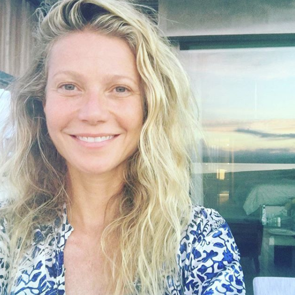 "<p>Gwyneth celebrated her 44th birthday with a make-up free selfie on Instagram. ""Embracing my past and future,"" wrote the 'Iron Man' actress. <em>[Photo: Instagram @gwynethpaltrow]</em> </p>"