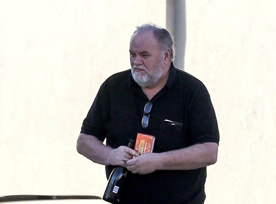 Meghan Markle's father, Thomas Markle Sr., will not attend the royal wedding due to a heart procedure. (Photo: Backgrid)