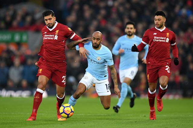 "Liverpool midfielders <a class=""link rapid-noclick-resp"" href=""/soccer/players/emre-can/"" data-ylk=""slk:Emre Can"">Emre Can</a> (left) and Alex Oxlade-Chamberlain (right) were excellent against <a class=""link rapid-noclick-resp"" href=""/soccer/teams/manchester-city/"" data-ylk=""slk:Manchester City"">Manchester City</a>. (Getty)"