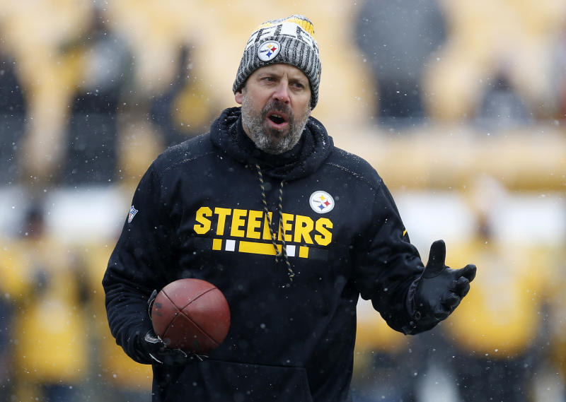 Pittsburgh Steelers offensive coordinator Todd Haley won't be back with he team next season. (AP)