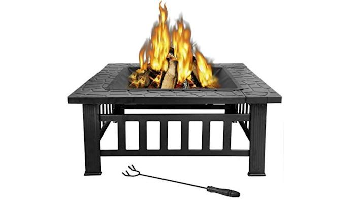 For less than $100, you can nab a best-selling fire pit with tons of accessories.