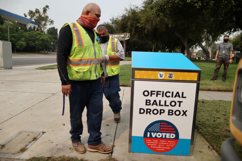 U.S. warns 'foreign actors' aim to sow doubts over mail-in voting