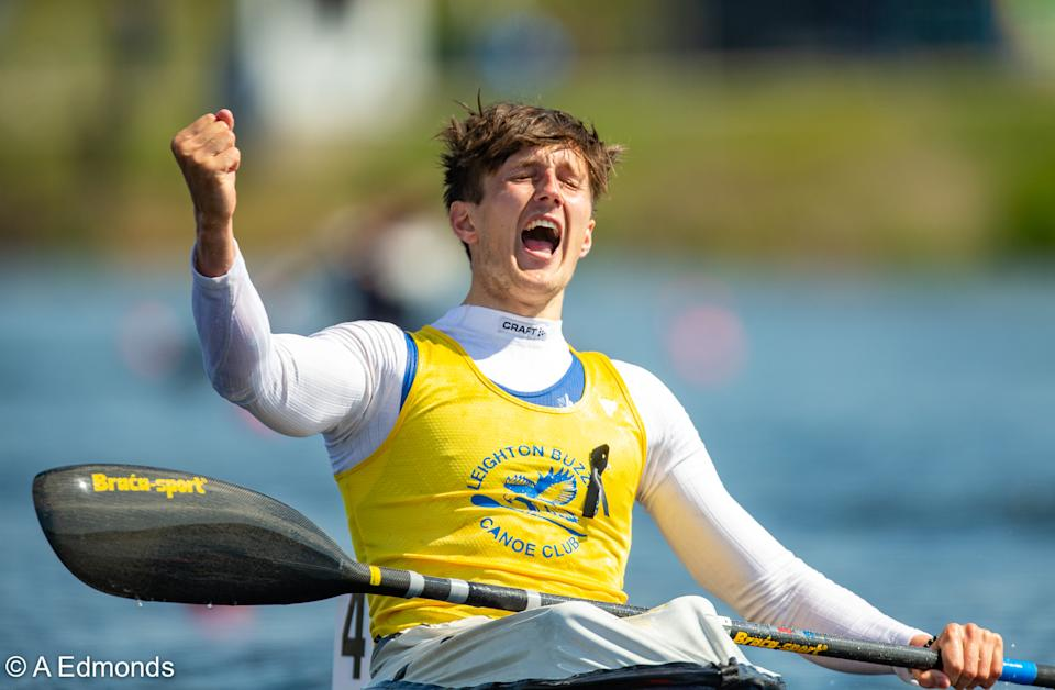 Charlie Smith beat a strong field in the men's K1 1000m at the sprint and paracanoe national selection event, to keep his Olympic dream alive © A Edmonds
