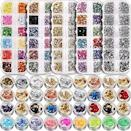 <p>You'll never run out of nail-art essentials with the <span>Teenitor 11440-Piece Nails Rhinestones, Foil Flakes, Gems, and Studs</span> ($13) kit from Amazon.</p>