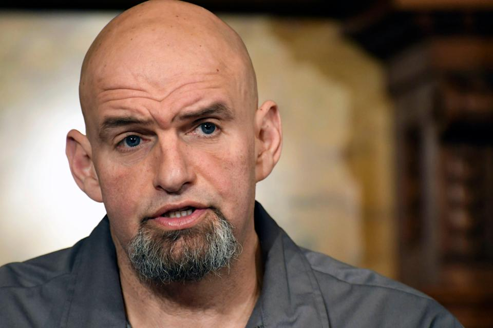Pennsylvania Lt. Gov. John Fetterman (AP Photo/Marc Levy)