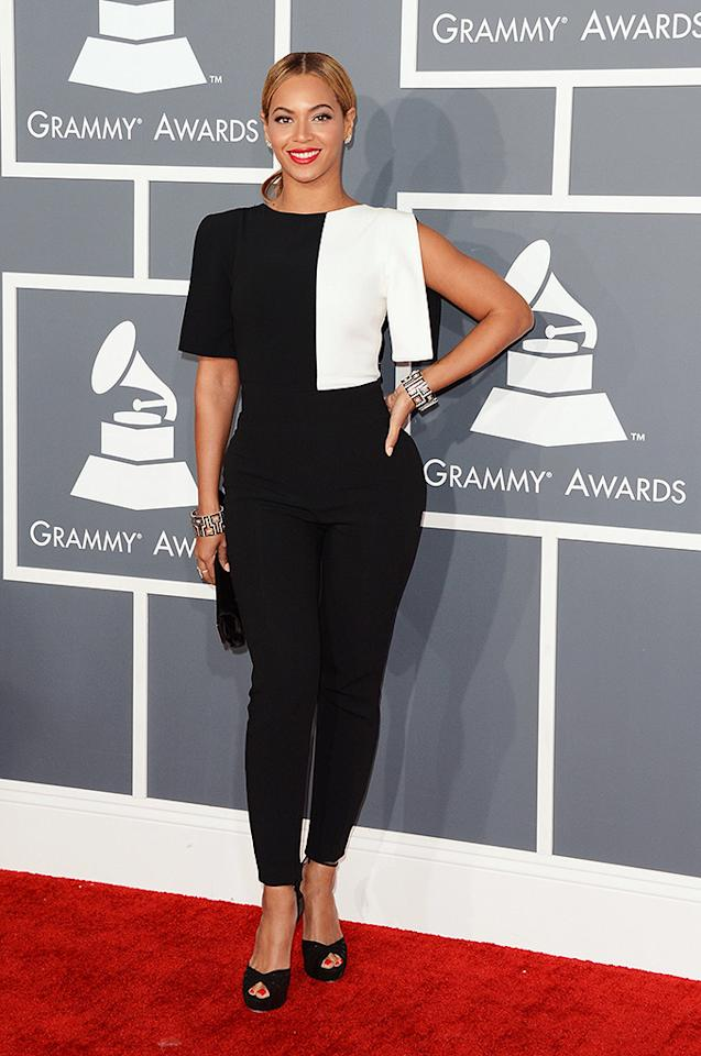 LOS ANGELES, CA - FEBRUARY 10:  Singer Beyonce arrives at the 55th Annual GRAMMY Awards at Staples Center on February 10, 2013 in Los Angeles, California.  (Photo by Jason Merritt/Getty Images)