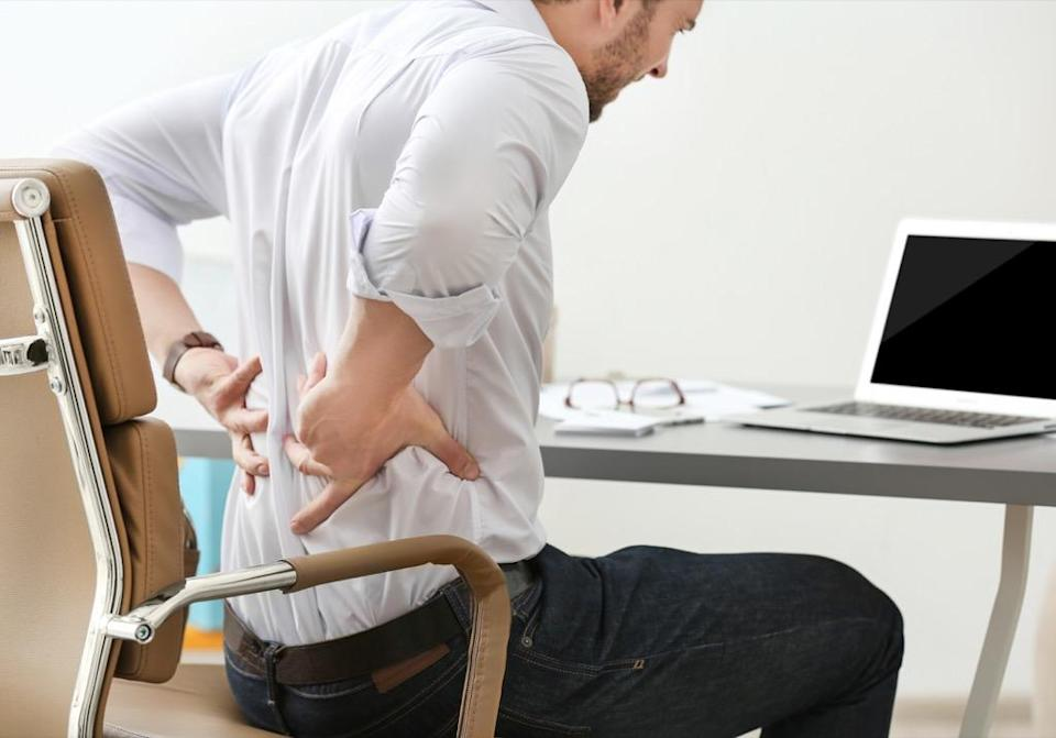 """Back pain is, unfortunately, something else that's very common—especially for women, says <strong><a href=""""http://www.anandspinegroup.com"""" rel=""""nofollow noopener"""" target=""""_blank"""" data-ylk=""""slk:Neel Anand"""" class=""""link rapid-noclick-resp"""">Neel Anand</a>, MD</strong>, director of spine trauma at Cedars-Sinai Spine Center in Los Angeles. """"The majority of female patients who come to me for treatment of their spinal conditions often don't believe me when I tell them that sometimes, the stress in their everyday lives contributes to their chronic back pain,"""" he says. """"And if it doesn't contribute to the spinal condition itself, stress can certainly contribute to its severity."""" <a href=""""https://www.ninds.nih.gov/Disorders/Patient-Caregiver-Education/Fact-Sheets/Low-Back-Pain-Fact-Sheet"""" rel=""""nofollow noopener"""" target=""""_blank"""" data-ylk=""""slk:Pain concentrated in the lower back"""" class=""""link rapid-noclick-resp"""">Pain concentrated in the lower back</a> could also be a sign of other conditions like sciatica, herniated or ruptured discs, or spinal stenosis, according to the National Institute of Neurological Disorders and Stroke."""