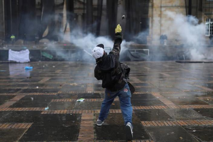 Protest against poverty and police violence in Bogota