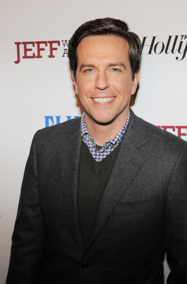 "NEW YORK, NY - MARCH 12:  Actor Ed Helms attends the ""Jeff, Who Lives at Home"" screening hosted by The Hollywood Reporter and FIJI Water at the Sunshine Landmark on March 12, 2012 in New York City.  (Photo by Larry Busacca/Getty Images)"