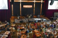 Patrons dine at City Winery Thursday, June 24, 2021, in New York. Customers wanting to wine, dine and unwind to live music at the City Winery's flagship restaurant in New York must show proof of a COVID-19 vaccination to get in. But that's not required at most other dining establishments in the city. And it's not necessary at other City Winery sites around the U.S. (AP Photo/Frank Franklin II)