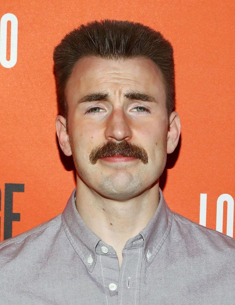<p><strong>Chris Evans</strong></p><p>Whether you're on your way to a full Walrus or just aren't ready to commit, the Baby Walrus gives you the same vibes, but with a shorter length and more trimmed sides. Sometimes also referred to as the Cop Stache, this shape (whether short or long) carries authority due to its fullness and subtle, but not overly groomed, shape.</p>