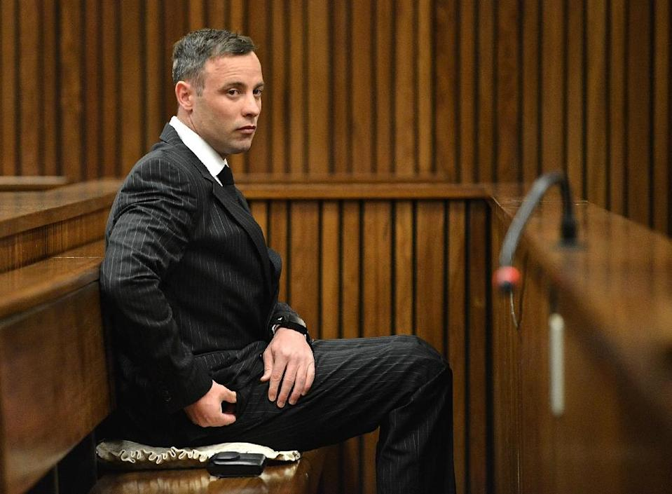 South African Paralympian Oscar Pistorius was originally convicted of culpable homicide -- the equivalent of manslaughter -- but his conviction was upgraded to murder on appeal (AFP Photo/Phill Magakoe)