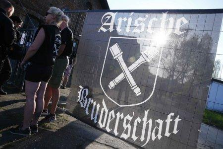 Far-right supporters attend rock music festival