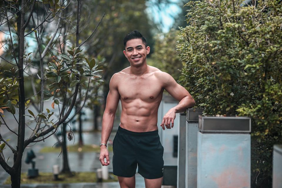 Danil Palma is a content creator and fitness trainer. (PHOTO: Cheryl Tay)