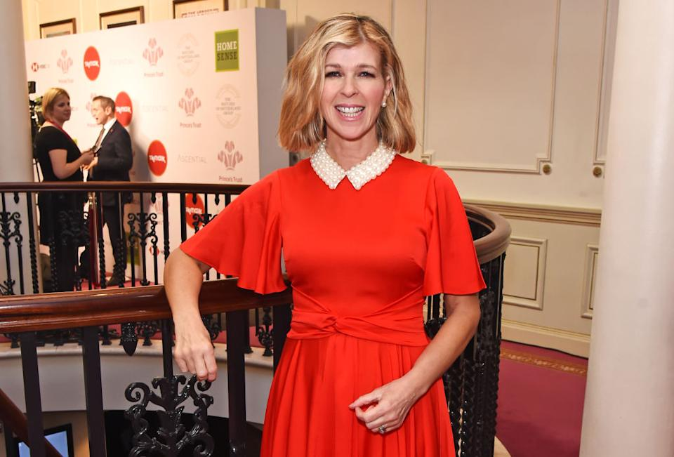 Kate Garraway has revealed the cause of her mystery ehe condition, pictured March 2020. (Getty Images)