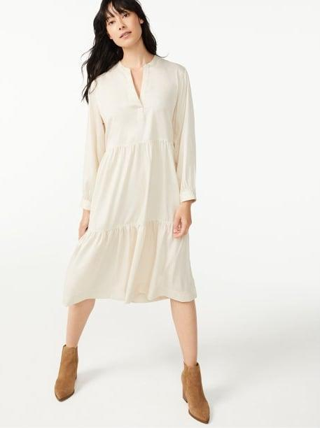 <p>When you want to be comfortable but want to dress to impress, slip into this <span>Free Assembly Women's Swing Shirtdress with Long Sleeves</span> ($34), available in three colors.</p>