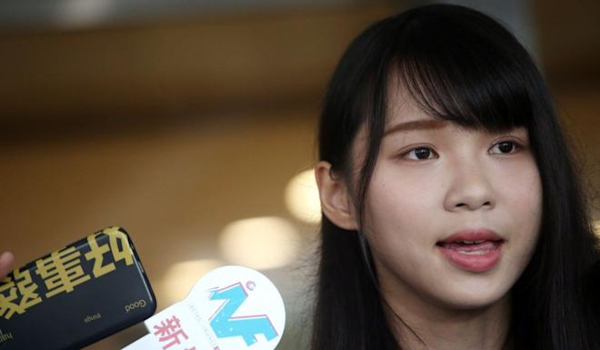 Agnes Chow was barred from running in a Legislative Council by-election in 2018. David Wong