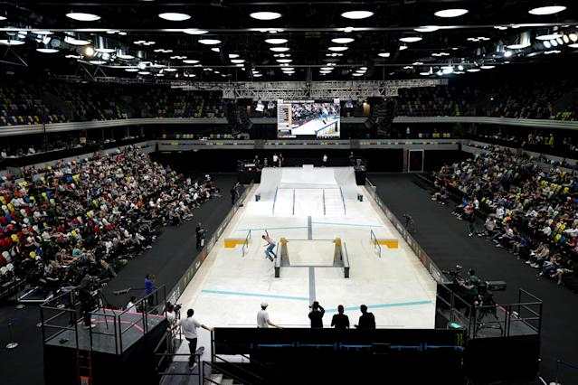 The Street League Skateboarding World Tour at The Copper Box.