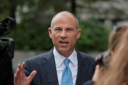 Attorney Michael Avenatti exits the United States Courthouse in the Manhattan borough of New York
