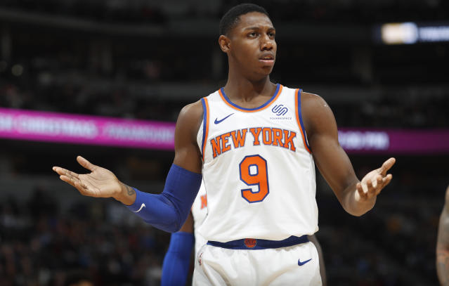 RJ Barrett claims he actually has better shooting form with his right hand. (AP/David Zalubowski)