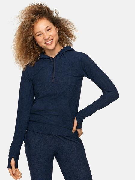 """<h3>Outdoor Voices CloudKnit Hoodie</h3> <br>If you're craving coverage but also want to stay cool for the summer, this whisper-thin CloudKnit hoodie will give you the best of both worlds.<br><br><strong>Outdoor Voices</strong> CloudKnit Hoodie, $, available at <a href=""""https://go.skimresources.com/?id=30283X879131&url=https%3A%2F%2Fwww.outdoorvoices.com%2Fproducts%2Fw-cloudknit-hoodie%3Fvariant%3D18318765765"""" rel=""""nofollow noopener"""" target=""""_blank"""" data-ylk=""""slk:Outdoor Voices"""" class=""""link rapid-noclick-resp"""">Outdoor Voices</a><br>"""