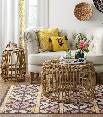 "<a href=""https://fave.co/2Le4vXW"" rel=""nofollow noopener"" target=""_blank"" data-ylk=""slk:Target"" class=""link rapid-noclick-resp"">Target</a> is known for its trendy and affordable home decor, but it's only gotten better with brands such as <a href=""https://fave.co/2lmPIOX"" rel=""nofollow noopener"" target=""_blank"" data-ylk=""slk:Project62"" class=""link rapid-noclick-resp"">Project62</a> and <a href=""https://fave.co/30vPHHB"" rel=""nofollow noopener"" target=""_blank"" data-ylk=""slk:Opalhouse"" class=""link rapid-noclick-resp"">Opalhouse</a>. You&rsquo;ll find plenty of Southwestern and desert-inspired furniture and decor, such as this <a href=""https://fave.co/3ik3TNe"" rel=""nofollow noopener"" target=""_blank"" data-ylk=""slk:rattan side table"" class=""link rapid-noclick-resp"">rattan side table</a> and this <a href=""https://fave.co/3hfIJ1e"" rel=""nofollow noopener"" target=""_blank"" data-ylk=""slk:accent rug"" class=""link rapid-noclick-resp"">accent rug</a>. Browse more from <a href=""https://fave.co/2lmPIOX"" rel=""nofollow noopener"" target=""_blank"" data-ylk=""slk:Project62"" class=""link rapid-noclick-resp"">Project62</a> and <a href=""https://fave.co/30vPHHB"" rel=""nofollow noopener"" target=""_blank"" data-ylk=""slk:Opalhouse"" class=""link rapid-noclick-resp"">Opalhouse</a>."