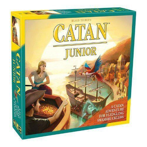 """<p><strong>Catan Studio</strong></p><p>walmart.com</p><p><a href=""""https://go.redirectingat.com?id=74968X1596630&url=https%3A%2F%2Fwww.walmart.com%2Fip%2FCATAN-JR-Strategy-Board-Game%2F39364341&sref=https%3A%2F%2Fwww.bestproducts.com%2Fparenting%2Fkids%2Fg985%2Fbest-family-board-games%2F"""" rel=""""nofollow noopener"""" target=""""_blank"""" data-ylk=""""slk:Shop Now"""" class=""""link rapid-noclick-resp"""">Shop Now</a></p><p><strong><del>$30.00</del> $24.99 (17% off)</strong></p><p>This is the kid version of the super-popular board game, <a href=""""https://www.amazon.com/Catan-Studios-cantan2017/dp/B00U26V4VQ/?tag=syn-yahoo-20&ascsubtag=%5Bartid%7C2089.g.985%5Bsrc%7Cyahoo-us"""" rel=""""nofollow noopener"""" target=""""_blank"""" data-ylk=""""slk:Settlers of Catan"""" class=""""link rapid-noclick-resp"""">Settlers of Catan</a>. It's a perfect intro for kids ages 6 and up who are ready to explore the world of Catan. Don't forget to find the gold while you're navigating the tropical islands.</p>"""
