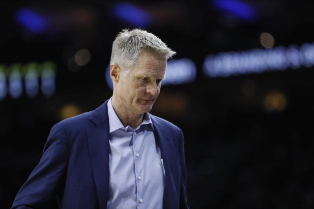 Steve Kerr sounds ready to move on from 2020. And who can blame him? (AP Photo/Matt Slocum)