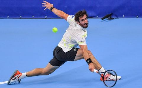 <span>Pablo Cuevas was beaten in straight sets by Murray</span> <span>Credit: Getty Images </span>