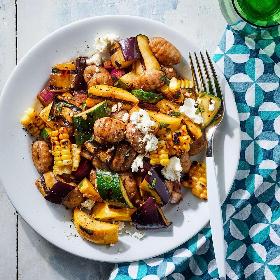 <p>This riff on pasta salad is best served warm while the gnocchi are nice and tender. Plus, the grilled veggies taste extra-good fresh off the fire in this easy gnocchi recipe.</p>