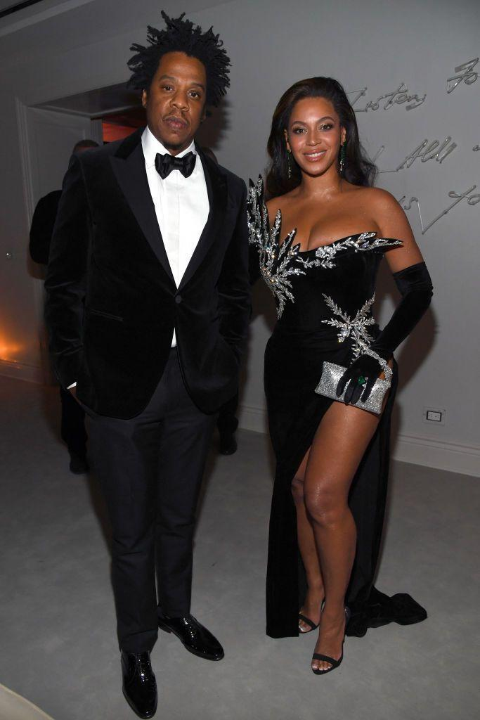 <p>Jay-Z and Beyoncé were one of many famous faces at Sean Combs (Diddy's) 50th birthday in Los Angeles.</p>