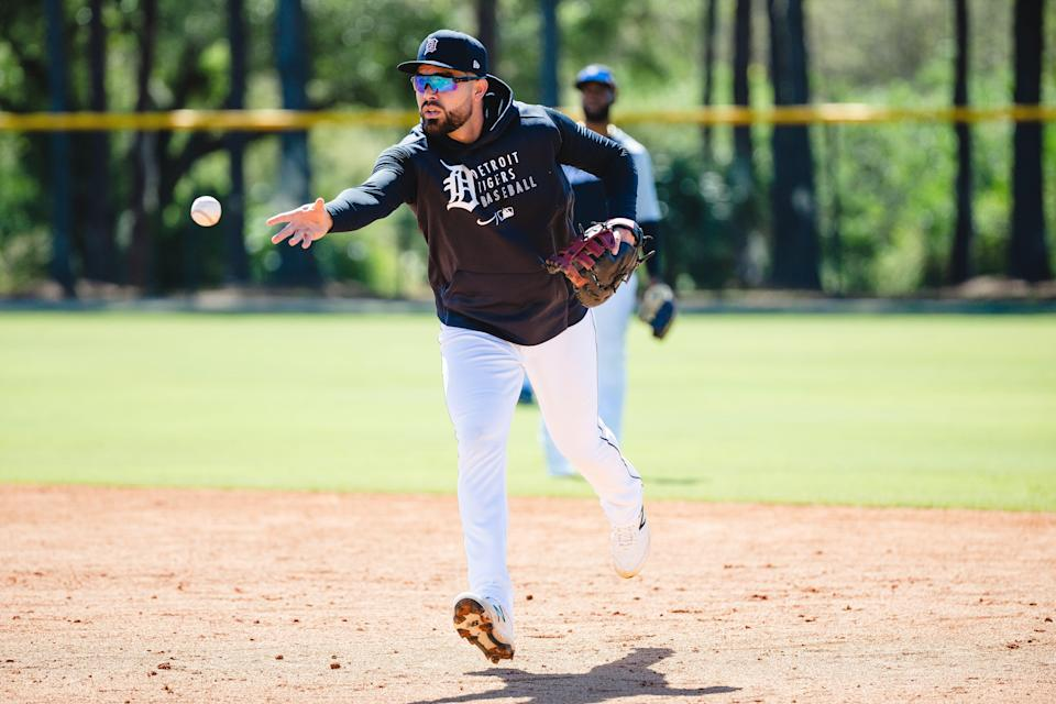 Renato Nunez warms up before a game at Joker Marchant Stadium in Lakeland, Fla. on March 9, 2021.
