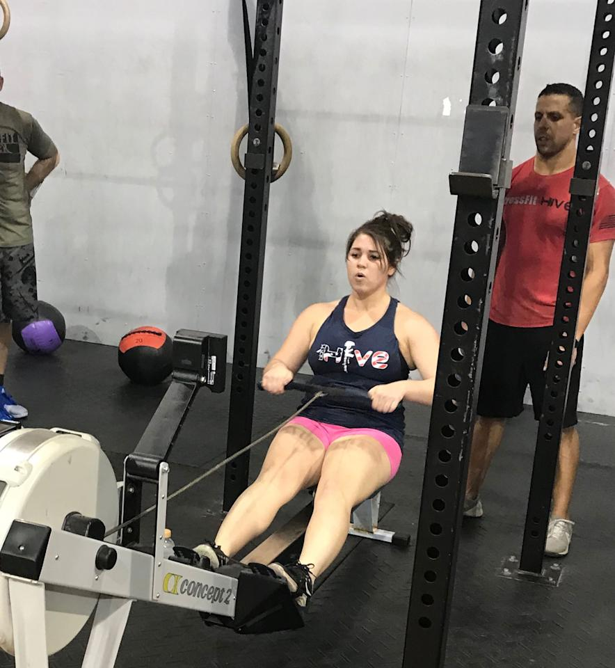 "<p>Charlotte had always been active. She was a Division 1 athlete on her college soccer team and within a few months after that ended, she told POPSUGAR, ""I found myself in a CrossFit gym and I've been there ever since.""</p>"