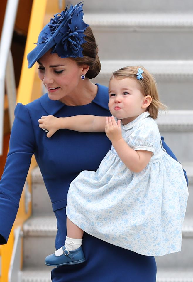 <p>Charlotte made her first official trip abroad as she toured Canada with her brother, Prince George, and her parents, stealing hearts with her cuteness. (Photo: PA) </p>