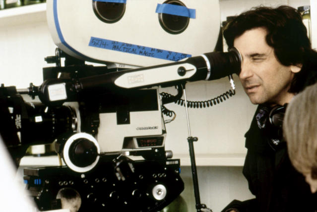 Director Griffin Dunne on the set of <i>Practical Magic</i>, 1998. (Warner Bros./courtesy Everett Collection)