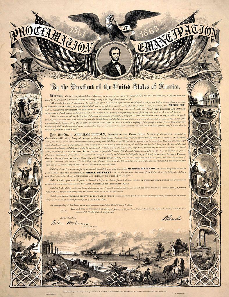 "<p>The <a href=""https://www.history.com/news/5-things-you-may-not-know-about-lincoln-slavery-and-emancipation"" rel=""nofollow noopener"" target=""_blank"" data-ylk=""slk:Emancipation Proclamation"" class=""link rapid-noclick-resp"">Emancipation Proclamation</a> wasn't written by Abraham Lincoln with the intention of abolishing slavery. The proclamation freed enslaved people in designated areas in the South, and it was actually written as part of Lincoln's military strategy, according to History.com.</p><p>It freed slaves in the South, but it exempted Confederate states already under Union control and border states like Delaware, Maryland, Kentucky, and Missouri. The Union and Confederacy had been at war for two years when Lincoln issued the proclamation, so it was meant to bolster support for the Union's cause.</p><p>Slavery wasn't completely abolished until the 13th Amendment, which banned slavery, was added to the U.S. Constitution. Raquel White writes that ""<a href=""https://theblackdetour.com/5-black-history-facts-that-you-didnt-learn-in-school/"" rel=""nofollow noopener"" target=""_blank"" data-ylk=""slk:a clause in the amendment"" class=""link rapid-noclick-resp"">a clause in the amendment</a>, however, says that it is illegal to enslave anyone unless they are a criminal."" That amendment has allowed <a href=""https://theblackdetour.com/1994-crime-black-communities/"" rel=""nofollow noopener"" target=""_blank"" data-ylk=""slk:mass incarceration"" class=""link rapid-noclick-resp"">mass incarceration</a>, where <a href=""https://www.aljazeera.com/indepth/opinion/2017/09/slavery-prison-system-170901082522072.html"" rel=""nofollow noopener"" target=""_blank"" data-ylk=""slk:inmates work without pay"" class=""link rapid-noclick-resp"">inmates work without pay</a> often in inhumane conditions, to persist in the modern day U.S.</p>"