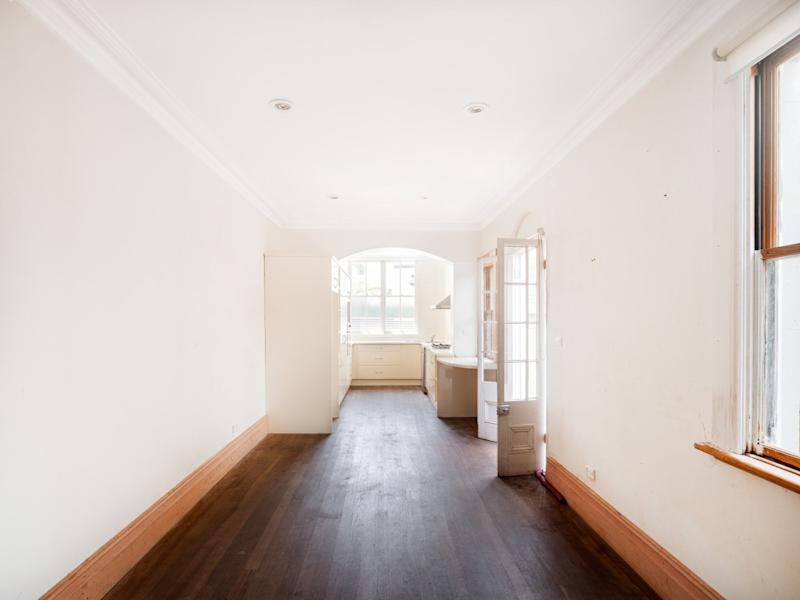 Long shot of the interior of 448 Bourke Street in Sydney's Surry Hills