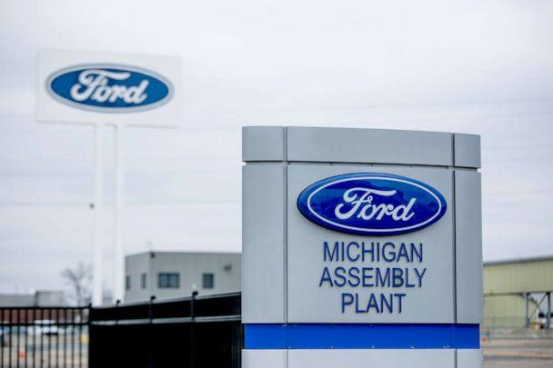 PHOTO: Ford Motor Co. Michigan Assembly plant in Wayne, Mich., March 23, 2020. (Anthony Lanzilote/Bloomberg via Getty Images)