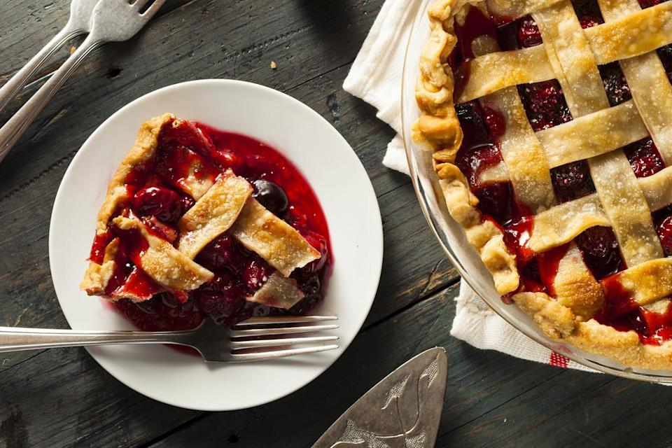"<p>Michigan is one of the top producers of tart cherries in the country, yielding 264 million pounds as well as almost 24,000 tons of sweet cherries in 2018. One of the best ways to use all this fruit is in a classic cherry pie, or in <a href=""https://www.thedailymeal.com/entertain/15-best-damn-cherry-dessert-recipes-ever-slideshow?referrer=yahoo&category=beauty_food&include_utm=1&utm_medium=referral&utm_source=yahoo&utm_campaign=feed"" rel=""nofollow noopener"" target=""_blank"" data-ylk=""slk:more fun cherry desserts"" class=""link rapid-noclick-resp"">more fun cherry desserts</a>.</p>"