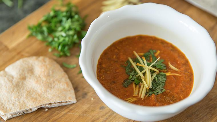 """<p>This zesty soup packs a punch, making it the ultimate antidote for fall sniffles. Ginger is not only a staple in Indian cuisine, but it's also known for its <a href=""""https://www.theactivetimes.com/healthy-living/15-foods-boost-your-immune-system?referrer=yahoo&category=beauty_food&include_utm=1&utm_medium=referral&utm_source=yahoo&utm_campaign=feed"""" rel=""""nofollow noopener"""" target=""""_blank"""" data-ylk=""""slk:immune-boosting properties"""" class=""""link rapid-noclick-resp"""">immune-boosting properties</a> and used to help treat headaches, nausea and more. Puree the ingredients in a blender, add the spices and leave it to simmer until you're ready to cozy up on the couch.</p> <p><a href=""""https://www.thedailymeal.com/recipes/athrak-soup-recipe?referrer=yahoo&category=beauty_food&include_utm=1&utm_medium=referral&utm_source=yahoo&utm_campaign=feed"""" rel=""""nofollow noopener"""" target=""""_blank"""" data-ylk=""""slk:For the Athrak Soup recipe, click here."""" class=""""link rapid-noclick-resp"""">For the Athrak Soup recipe, click here.</a></p>"""