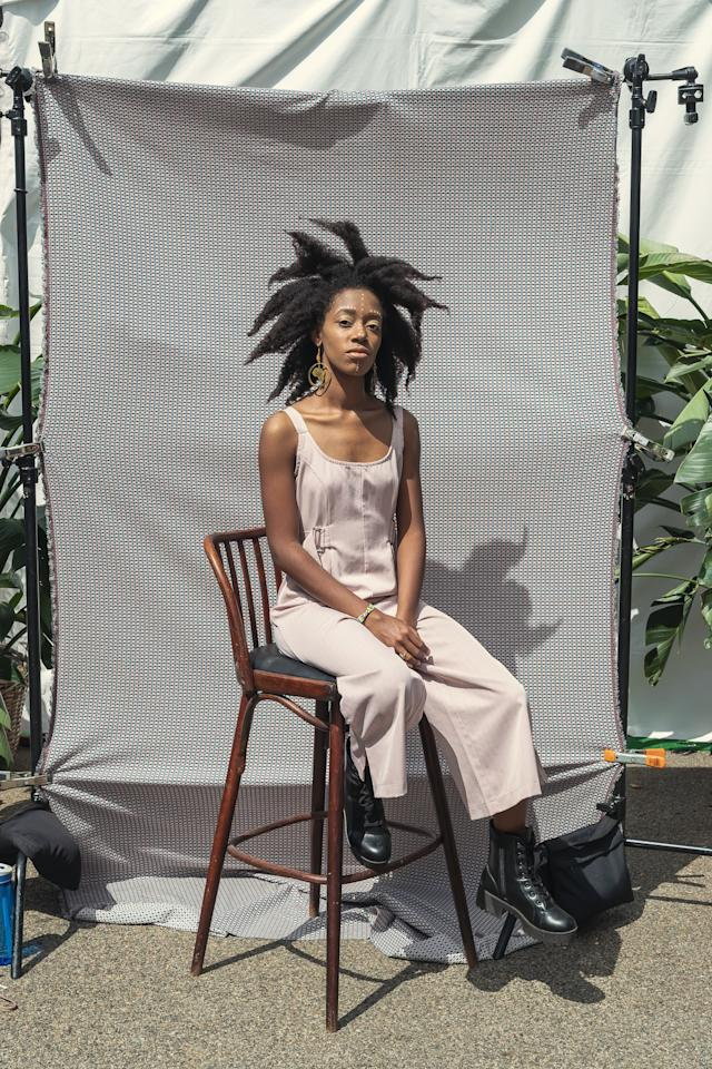 "<p><strong>What does punk mean to you?</strong><br> Punk means resistance, it means going up against the system and being able to confidently say ""I'm here and you can't do anything about it"".</p> <p><strong>What do you think makes the style here so special at Afropunk?</strong><br> It's a cool space where people are able to just be themselves in whatever form they choose. Being able to share that with other black people is just a beautiful thing to have.</p> <p><strong>What inspired your look today?</strong><br> With the hair, I wanted it just to be big and to take up space.</p> <p><strong>Finish the sentence, ""Black culture is…""</strong><br> Black Culture is everything</p>"