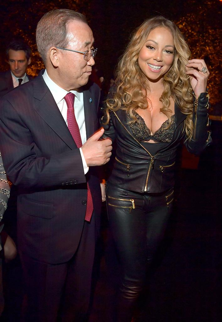 4260f8f3ce65 Mariah Carey Wears a Very Mariah Outfit to Meet the Head of the United  Nations
